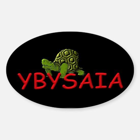 Running Turtle YBYSAIA Oval Decal