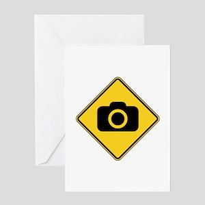 Warning : Photographer Greeting Card