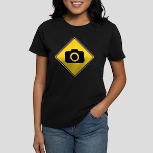 Warning : Photographer Women's Dark T-Shirt