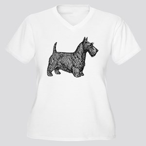 Scottish Terrier Women's Plus Size V-Neck T-Shirt