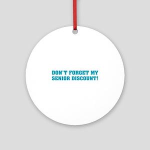 Senior Discount Ornament (Round)