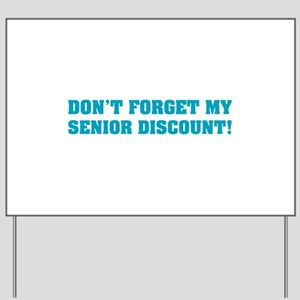 Senior Discount Yard Sign