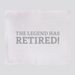 The Legend Has Retired! Throw Blanket