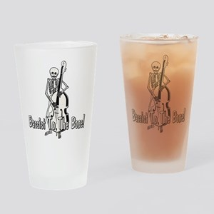 Skeleton Upright Bassist Drinking Glass