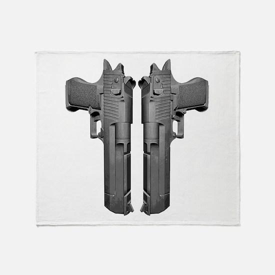 50 Caliber Pistols Throw Blanket