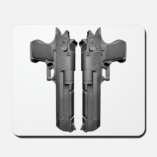 50 Caliber Pistols Mousepad