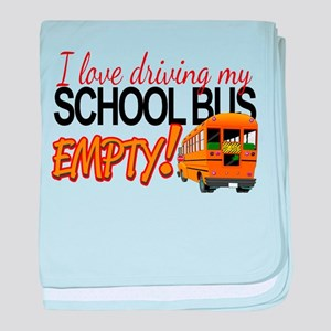Bus Driver - Empty Bus baby blanket