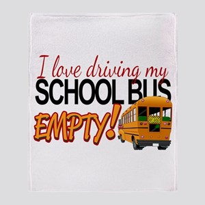 Bus Driver - Empty Bus Throw Blanket