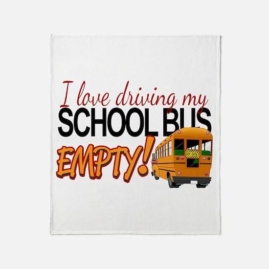 Bus Driver - Empty Bus Throw Blanket