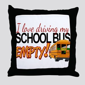 Bus Driver - Empty Bus Throw Pillow