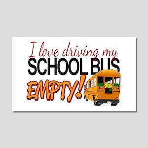 Bus Driver - Empty Bus Car Magnet 20 x 12