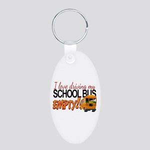 Bus Driver - Empty Bus Aluminum Oval Keychain