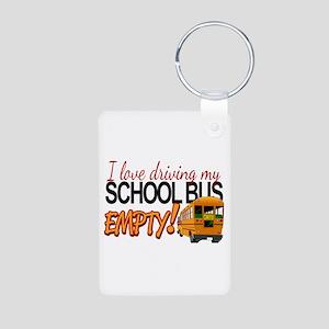 Bus Driver - Empty Bus Aluminum Photo Keychain