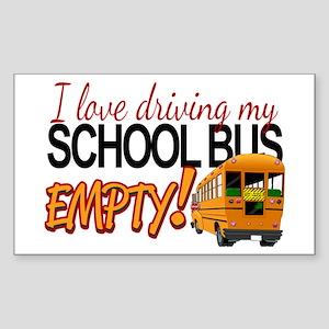 Bus Driver - Empty Bus Sticker (Rectangle)