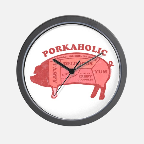 Porkaholic Wall Clock