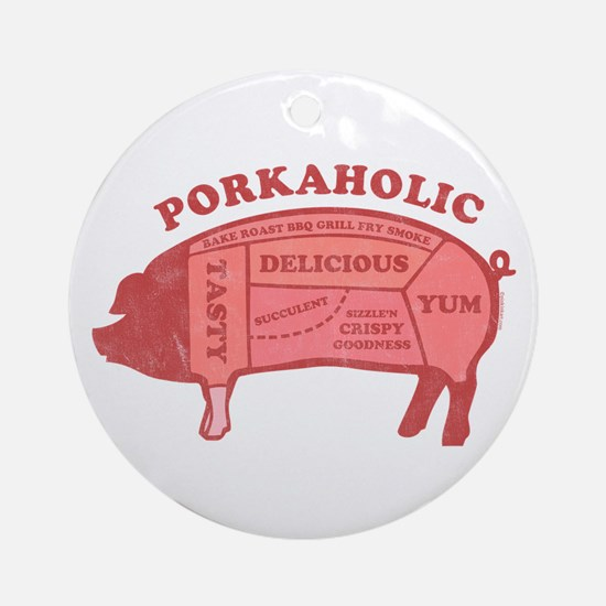 Porkaholic Ornament (Round)