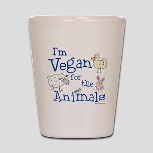 Vegan for Animals Shot Glass