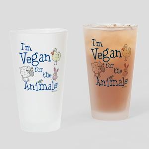 Vegan for Animals Drinking Glass
