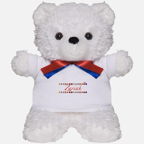 Zariah with Flowers Teddy Bear