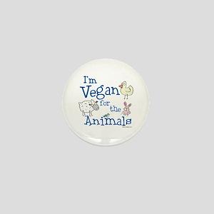Vegan for Animals Mini Button