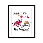 Vegan Karma Framed Panel Print