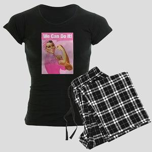Rosie Riveter Cancer Tattoo Women's Dark Pajamas