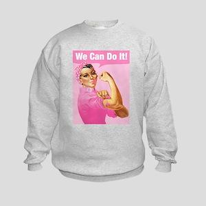 Rosie Riveter Cancer Tattoo Kids Sweatshirt