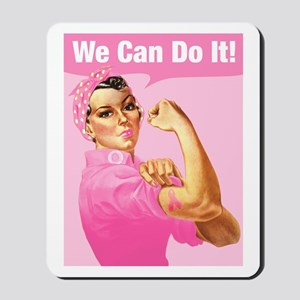 Rosie Riveter Cancer Tattoo Mousepad