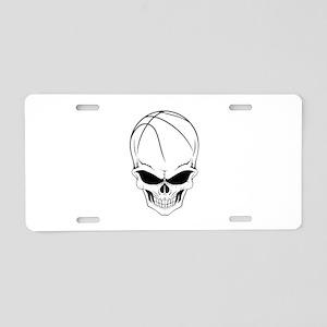 Basketball Skull Aluminum License Plate