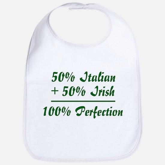 Half Irish, Half Italian Bib
