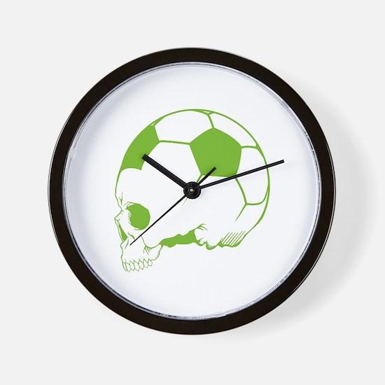 Soccer Skull Wall Clock