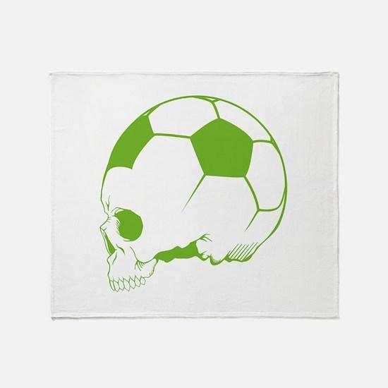 Soccer Skull Throw Blanket