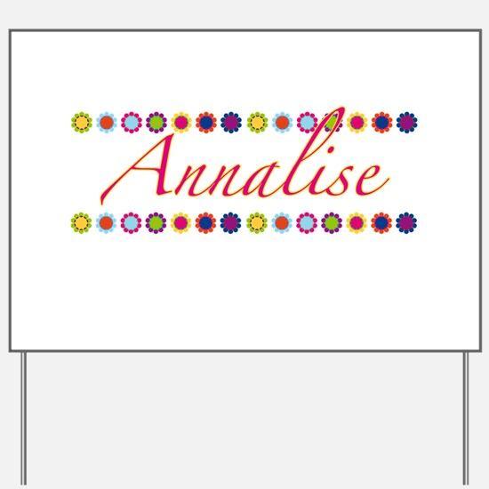 Annalise with Flowers Yard Sign