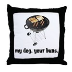 BBQ Grill Humor Throw Pillow