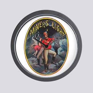 Miner's Light Cigar Label Wall Clock