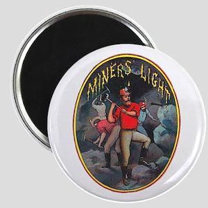 Miner's Light Cigar Label Magnet