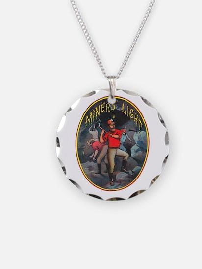 Miner's Light Cigar Label Necklace