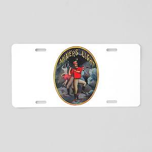 Miner's Light Cigar Label Aluminum License Plate