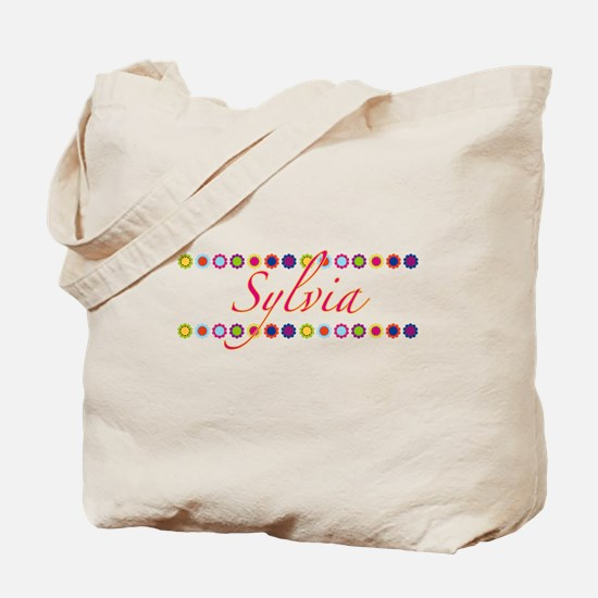 Sylvia with Flowers Tote Bag