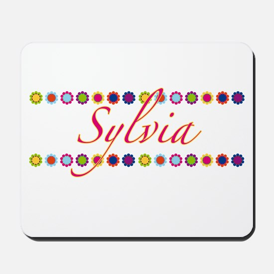 Sylvia with Flowers Mousepad
