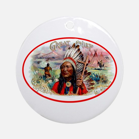 Great Chief Cigar Label Ornament (Round)