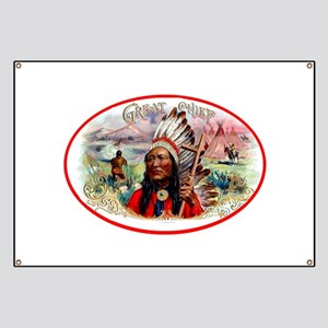 Great Chief Cigar Label Banner
