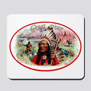 Great Chief Cigar Label Mousepad