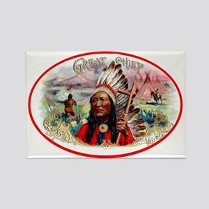 Great Chief Cigar Label Rectangle Magnet