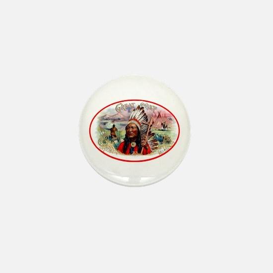 Great Chief Cigar Label Mini Button