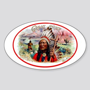 Great Chief Cigar Label Sticker (Oval)