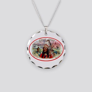 Great Chief Cigar Label Necklace Circle Charm