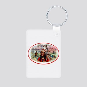 Great Chief Cigar Label Aluminum Photo Keychain