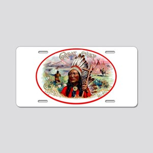 Great Chief Cigar Label Aluminum License Plate