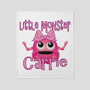 Little Monster Carrie Throw Blanket
